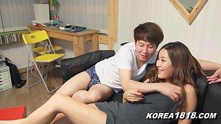 Korean Porn NEW Lucky Virgin Korean Babel!