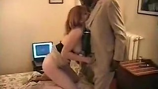 Husband lets his cuckold wife jack off 4 black guys in a hotelroom