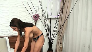 Turkish Babe Stripping And Masturbating On Webcam