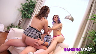 Banging Family - Fucking th English Teacher with my Step-Sis