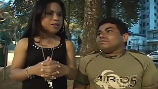 Adorable Latina fucked hard by a midget