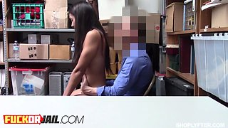 Innocent babe punished with fat penis