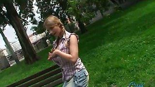 Public flashing with Katrin Kozy