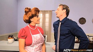 HDVPass Sexy Redhead Housewife Raylene Gives a Loving