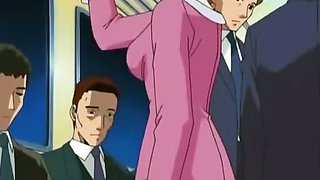 Sexy doll was fucked in public in anime