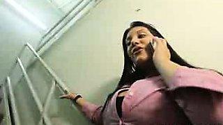 Kim Cruz plays CFNM in Her Office