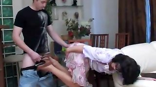 Russian mom and son pantyhose fetish sex
