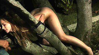 Adorable Teen punish tied up brutaly fucked hard