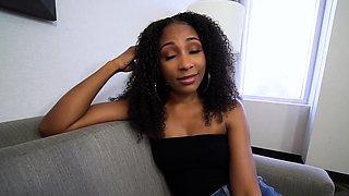 Awesome ebony MILF stepmother Olivia Jay