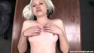 Teenie smiles as I cum on her face