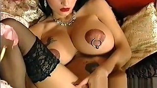 Extreme anal fisting and monster dildo fucking whore