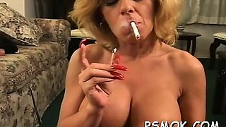 Pretty hotty takes enjoyment in some reading and smoking
